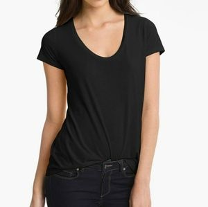 NWT Splendid Black Scoop Neck T shirt tee